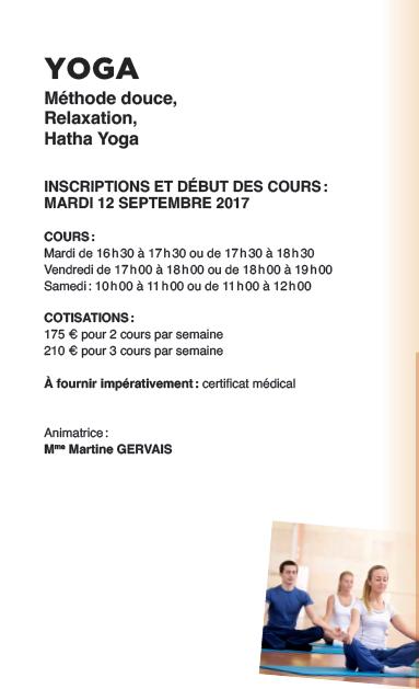 Yoga à l'ASPTT Carcassonne